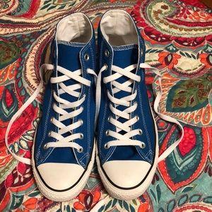 Royal blue high top Converse
